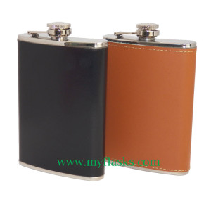 faux leather flasks