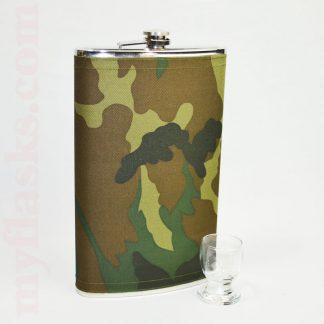 64 oz flask fabric wrapped camo