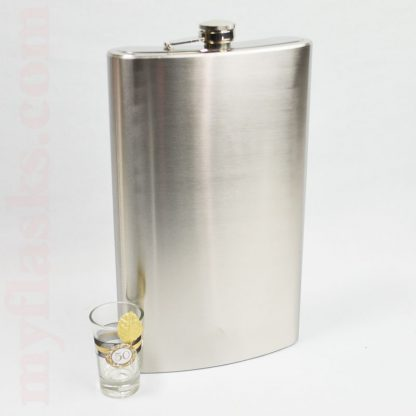 64oz jumbo plain stainless steel flask