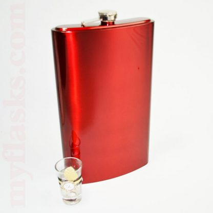 Red 64oz jumbo flask shot glass not included.