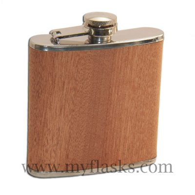 flask wrap with real wood