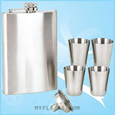 6pc hip flask gift set