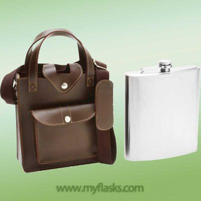 huge flask 80 oz with carrying sheath
