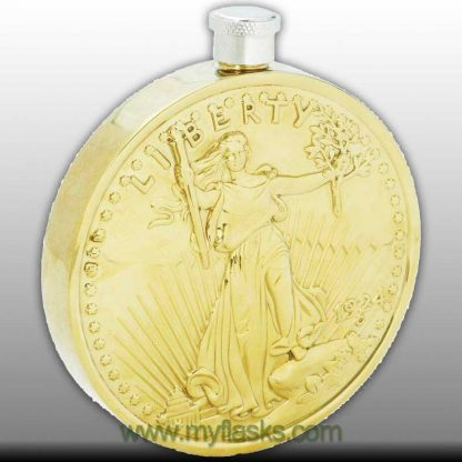 flask gold coin