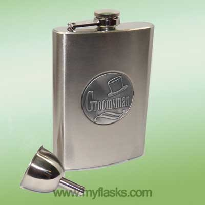 flask for groomsment