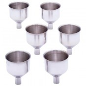 Maxam® 6pc Large Stainless Steel Flask Funnel Set 1