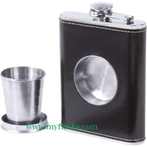flask with open cup