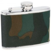 Maxam® 4oz Stainless Steel Flask with Camouflage Wrap 1
