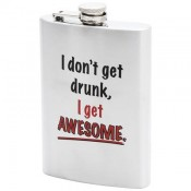 Maxam® 8oz Stainless Steel Flask with Graphic 1