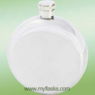round 5oz stainless steel flask