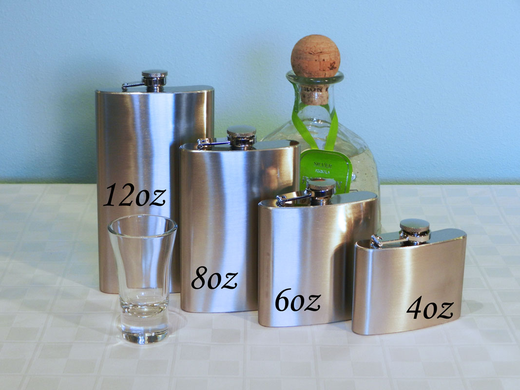 Flask 6oz Stainless Steel With Screw Down Cap Maxam The Flask Store
