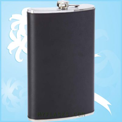 huge mens flask leather wrapped