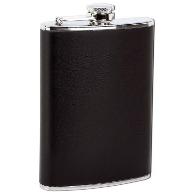 cool flask 8oz faux leather wrap