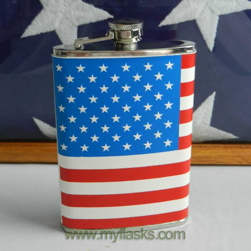 featured flask with flag