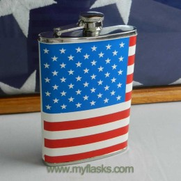 flask with flag wrap