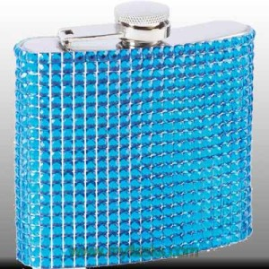 flask for ladies blue bling