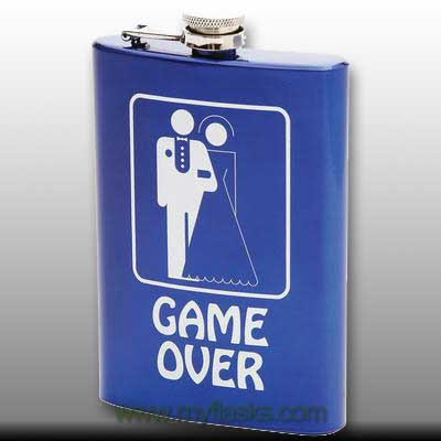 flask for man groom gift