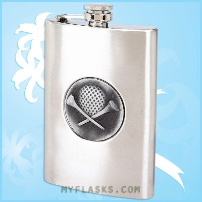 8 oz golf flask for men