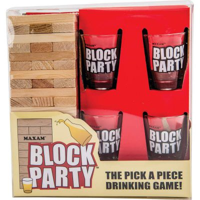 Jenga™ type stack drinking game box