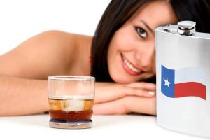 flask texas imprint