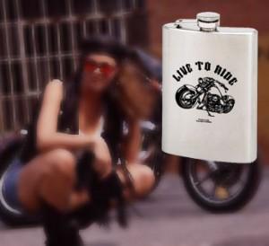 live to ride biker flasks