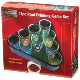 box for pool drinking game set