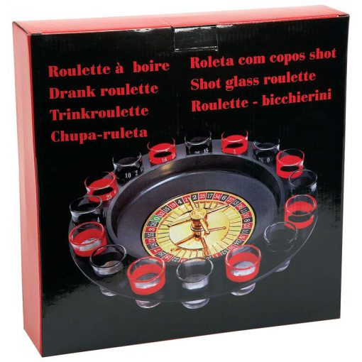 roulette wheel shot glass drinking game box
